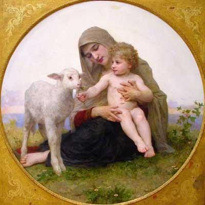 La vierge a lagneau Semnificații ale mielului de Paști