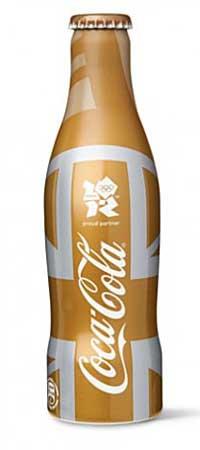 Coca Cola sticla aurie Jocurile Olimpice Londra
