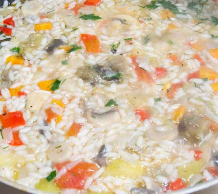 Pilaf de ciuperci cu legume