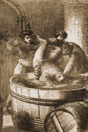 Duke of Clarence is drowned in a butt of Malmsey
