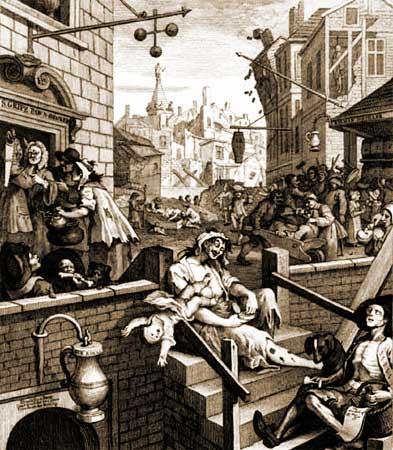 Hogarth Gin Lane
