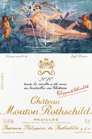 Jeff Koons Chateau Mouton Rothschild 2010