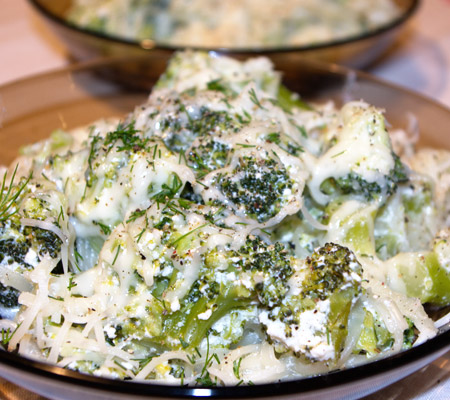 Paste cu brocoli și smântână